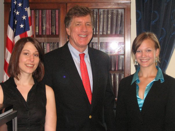 Joy, Congressman Jim Ramstad, and Serena meet in Washington DC to discuss Mental Health Parity