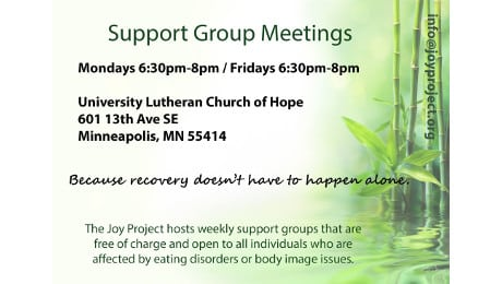 Monday and Friday night support groups